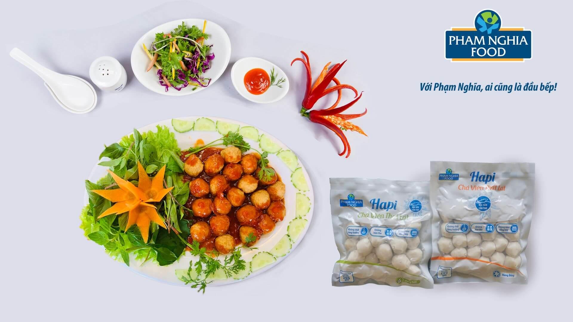 Cá viên PHAM NGHIA FOOD có thể chế biết được nhiều món ăn ngon!