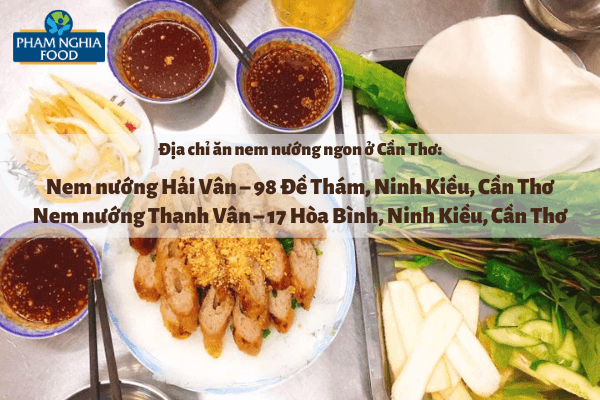 Nem nướng có nguồn gốc từ Nha Trang, thường ăn kèm với bánh tráng và các loại rau ghém cùng với nước chấm mắm nêm