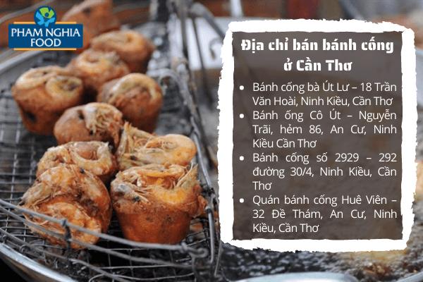 Một số địa chỉ bán bánh cống nổi tiếng ở Cần Thơ