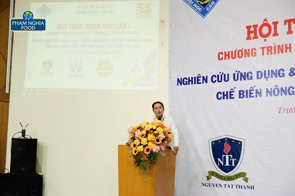 PGS. TS. Lê Nguyễn Đoan Khôi - Trưởng phòng Quản lý Khoa học ĐHCT chia sẻ thêm về nội dung ký kết