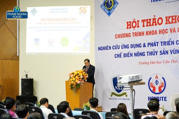 GS.TS Hà Thanh Toàn - Hiệu trưởng Đại học Cần Thơ phát biểu khai mạc Hội thảo