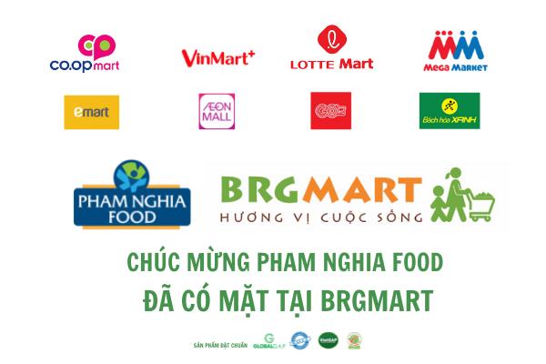 PHAM NGHIA FOOD hợp tác với BRGMART